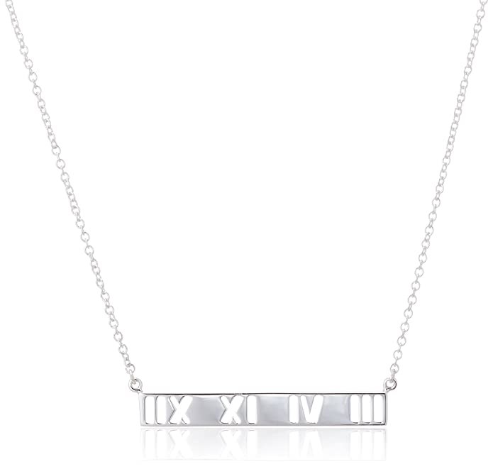 549210458 Tiffany Atlas Bar Pendant Sterling Silver 37195456] Tiffany Silver Pendant  37195456: Amazon.co.uk: Jewellery