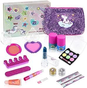 Anpro 15pcs Kit de Maquillaje Niñas,Juguetes para Chicas, Cosméticos Lavables, Regalo de Princesa para Niñas en Fiesta,Cumpleaños,Navidad: Amazon.es: Juguetes y juegos