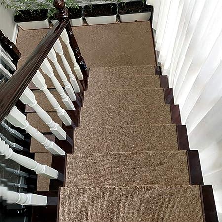 Alfombra de escalera, alfombrilla de escalera para el hogar - alfombra antideslizante autoadhesiva sin pegamento alfombra de protección de escalón antideslizante de color sólido 65 × 24 × 3 cm: Amazon.es: Hogar