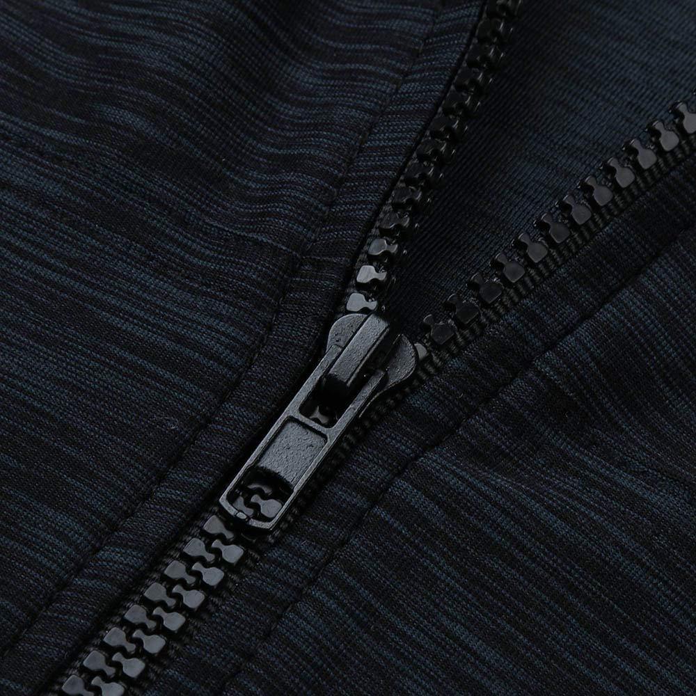 Pervobs Coat&Jacket, Clearance! Women Loose Long Sleeve Solid Classic Slim Full Zip Hoodie Thin Jacket Coat Pockets (XL, Navy) by Pervobs Women Coat&Jacket (Image #5)