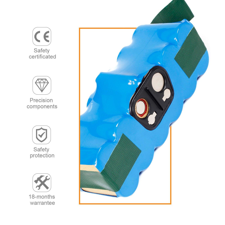 LENOGE 14.4V 3000mAh Reemplazo de la batería para iRobot Roomba 500 510 530 532 555 560 562 570 580 610 R3 500 535 540 550 760 770 780 600 605 615 616 620 ...