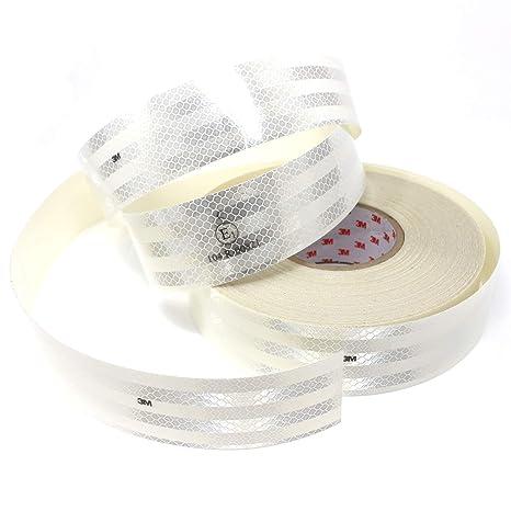 Finest Folia 3M Diamond Grade 983 Scotchlite Konturmarkierung 55mm Reflexfolie Reflexband Gelb-71, 50 Meter