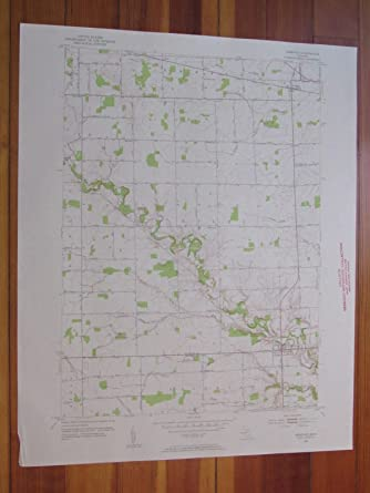 Memphis Michigan Map.Amazon Com Memphis Michigan 1953 Original Vintage Usgs Topo Map
