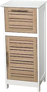 Regalkommode Fürs Badezimmer   1 Tür Und 1 Schublade   Effekt : Gealterte  Eiche