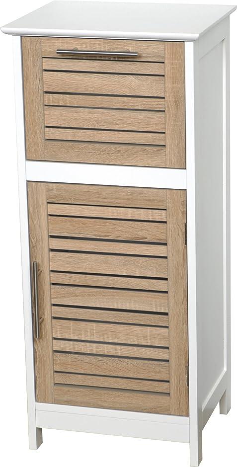Regalkommode fürs Badezimmer - 1 Tür und 1 Schublade - Effekt ...