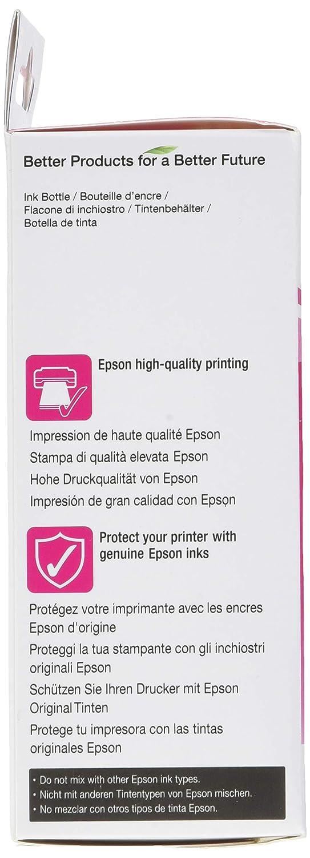 Epson Original T6643 Tintepatrone Ecotank Singlepack Magenta Tinta Printer L Series Brobedarf Schreibwaren