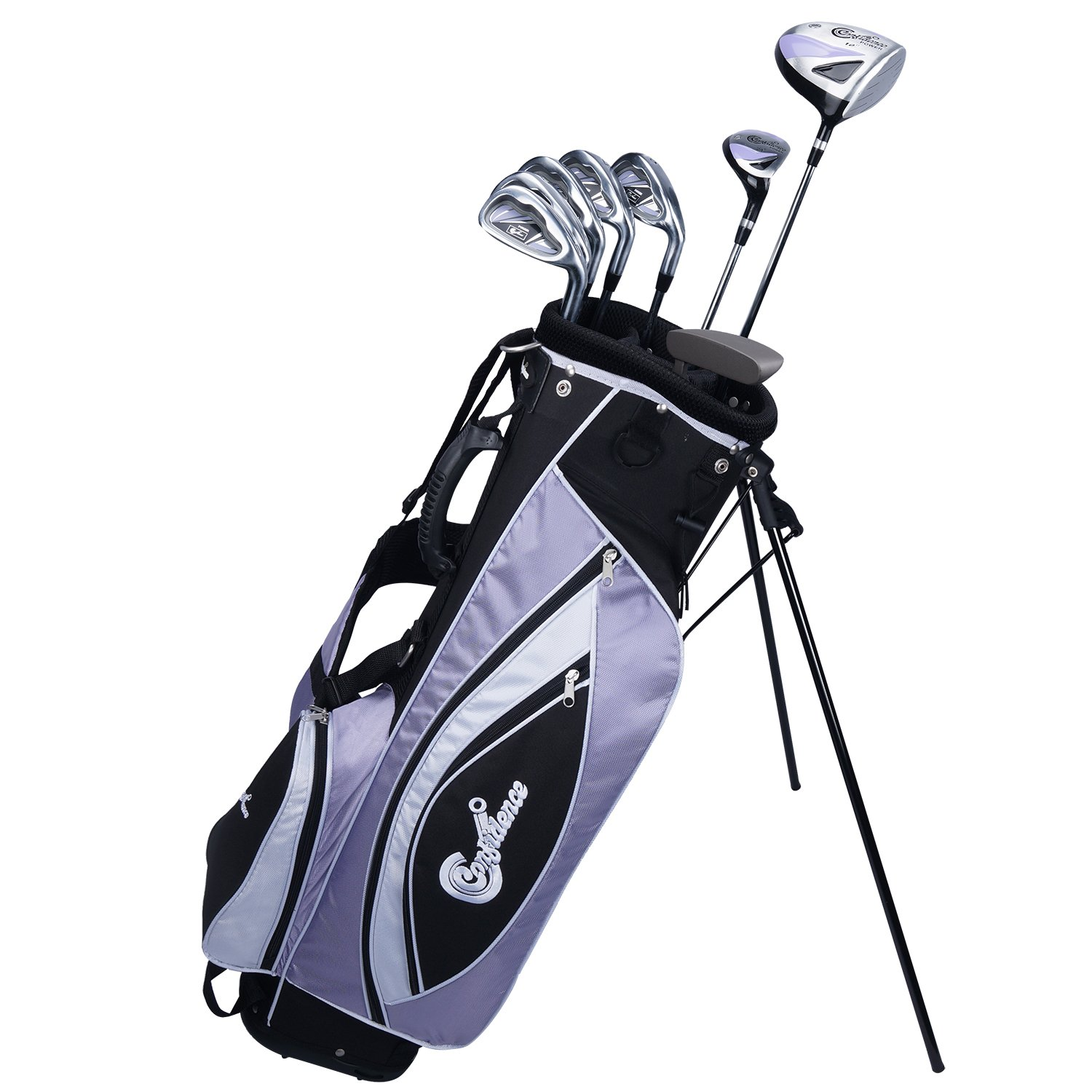 Confidence Golf LADY POWER Hybrid Club Set & Stand Bag by Confidence