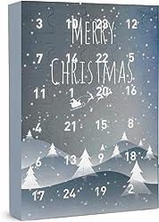 SIX Damenschmuck Adventskalender: Winterlandschaft – 24 Überraschungen in Form schöner Schmuckstücke wie Ringe, Ohrringe, Ketten und Armbänd