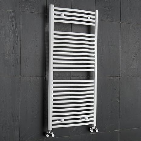 Hudson Reed - Radiador Toallero Curvo para Baño en Acero Blanco | 1200 x 600mm |