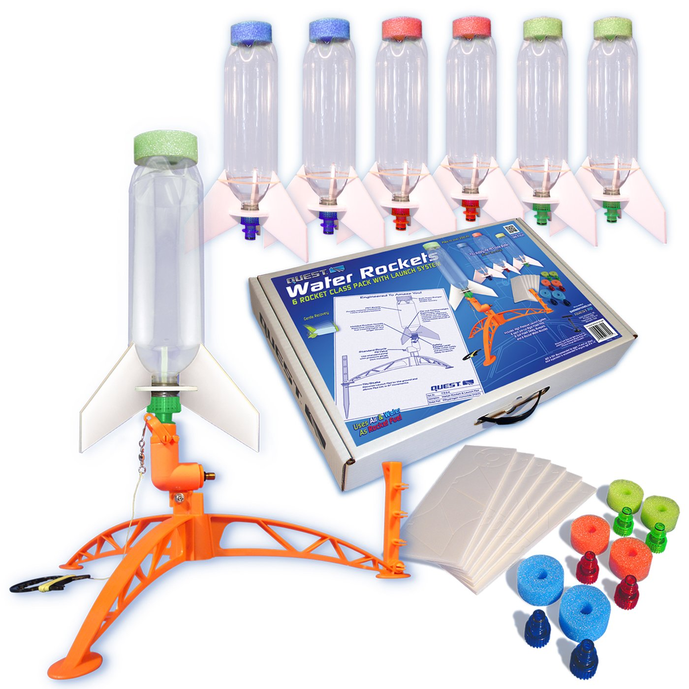 Quest Aerospace Water Rocket All Inclusive Class Pack, 6 Piece