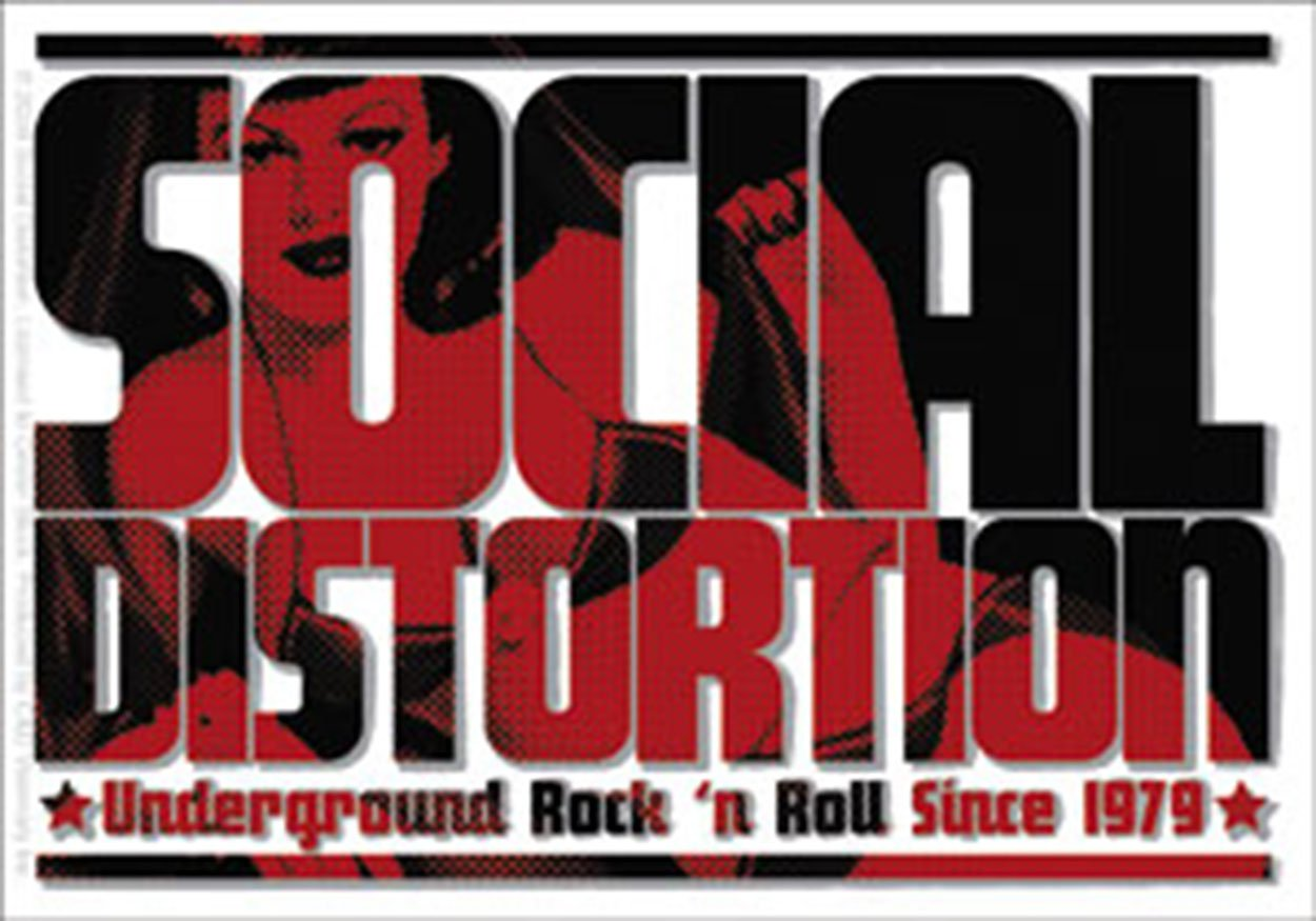 Licenses Products Social Distortion Logo Sticker