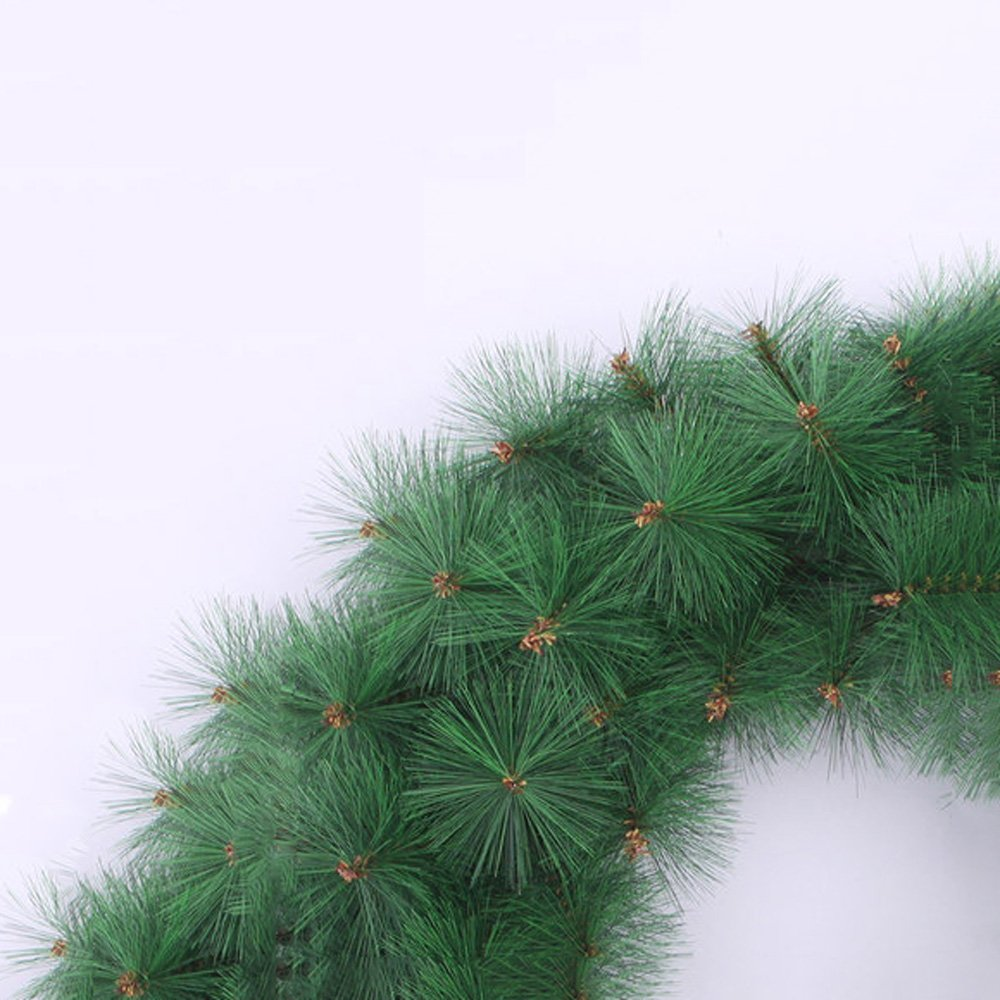 45CM Monochrome Pine Needles Christmas Wreath Shop Window Hotel Decoration Christmas Decorations Green Rattan Garland by LEILEI (Image #3)