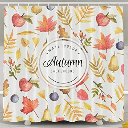 Kusmbey Welcome Autumn Shower Curtain   Standard, 60u0026quot; X 72u0026quot;,  Polyester