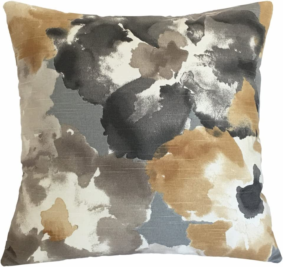 Amazon Com Amber Floral Watercolor Decorative Throw Pillow Cover