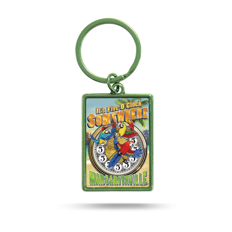 Margaritaville Metal Rectangular Double Sided Keychain Rico Industries Inc MKRTC111125CB