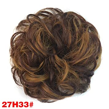 Amazon.com   Synthetic Hair Scrunchies Hair Extensions Chignons Piece Wrap  Ponytail Hair Tail Updo Fake Hair Bun Hairpiece Accessories ( 27H33)    Beauty c8c9776db