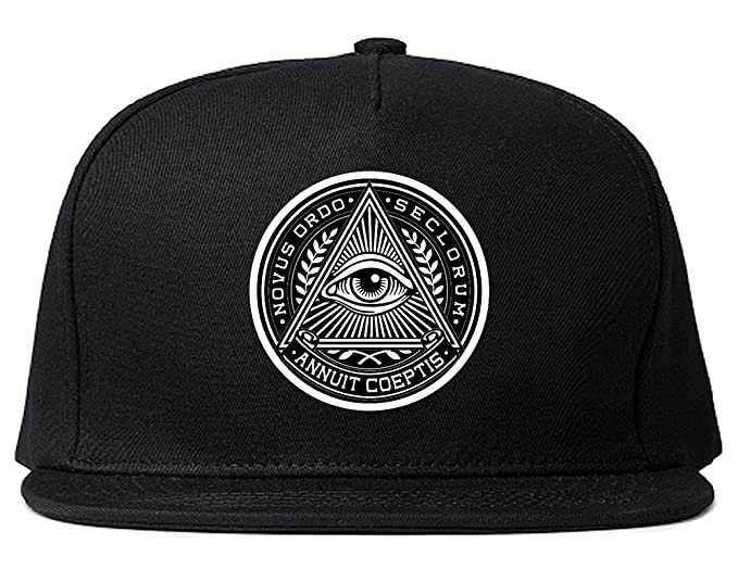Illuminati Eye Triangle Snapback Hat Cap Black at Amazon Men s ... 68844af894a