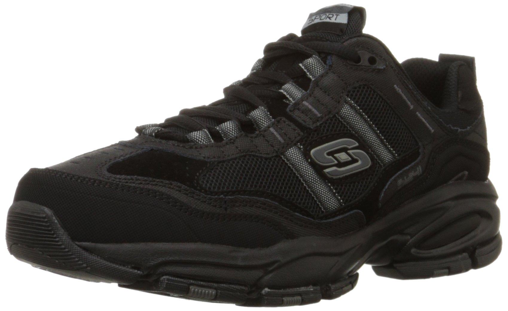 Skechers Sport Men's Vigor 2.0 Trait Memory Foam Sneaker, Black, 12 M US by Skechers (Image #1)
