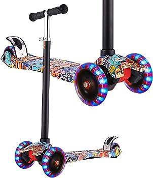 Hikole 3-Wheel Kick Scooter for Kids