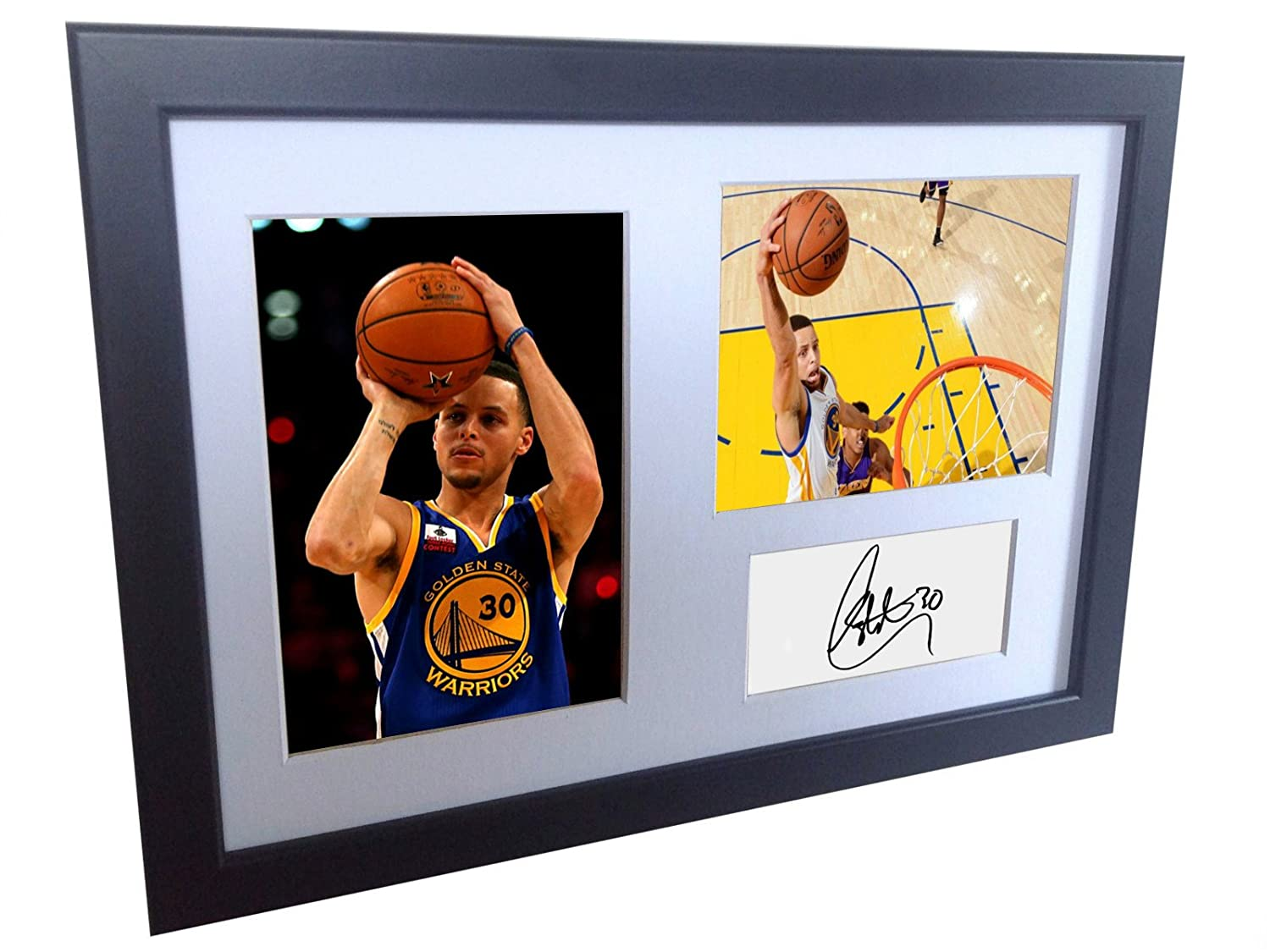 """A4 Signed Stephen Curry Golden State Warriors Autographed Basketball Photo Photograph Picture Frame Gift 12""""x8"""""""