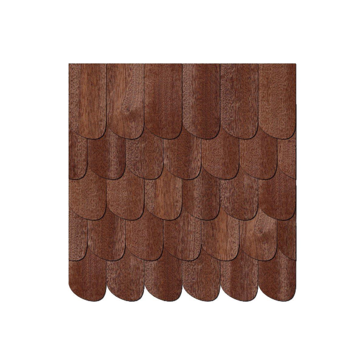 Echtholz Furnier dunkle Schindeln Schwarzwaldform rechts Gr/ö/ßen- und Mengenauswahl Schindelgr/ö/ße:15mm x 7.5mm Pack mit:100 St/ück