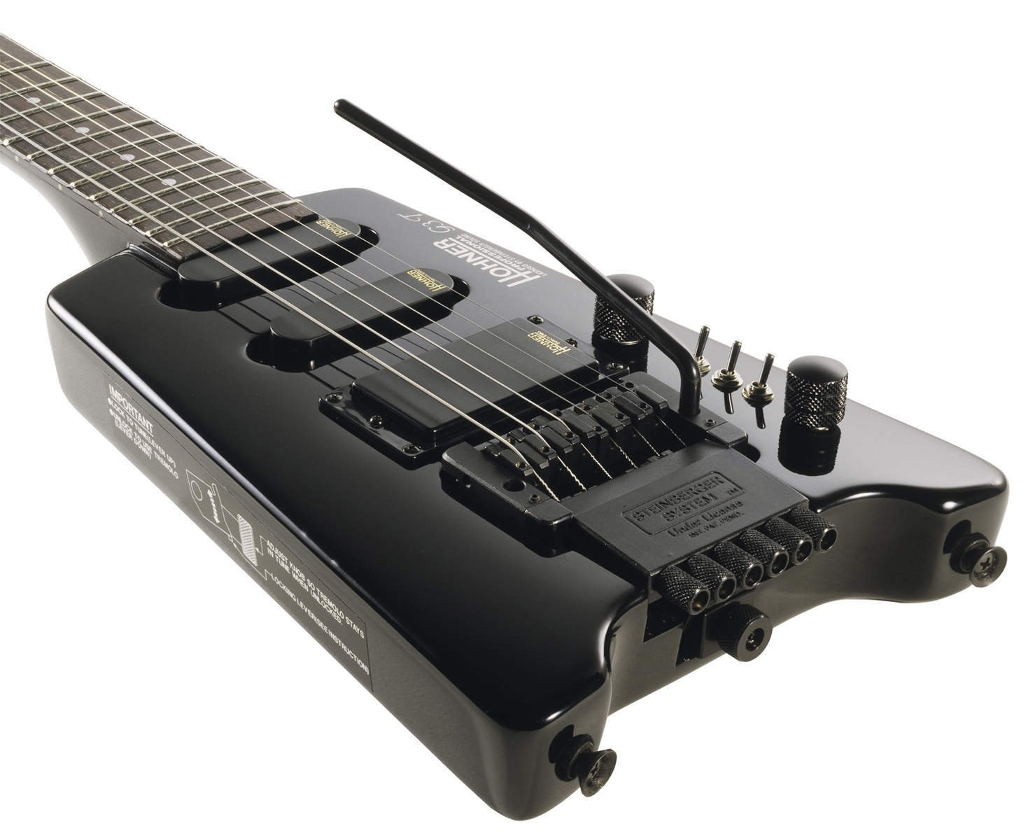 GUITARRA ELECTRICA-Hohner (G3T BK) Steinberger (Arce Macizo) Color Negro (Pick Ups Select): Amazon.es: Instrumentos musicales