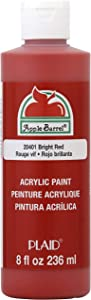 Apple Barrel Acrylic Paint in Assorted Colors (8 Ounce), J20401 Bright Red