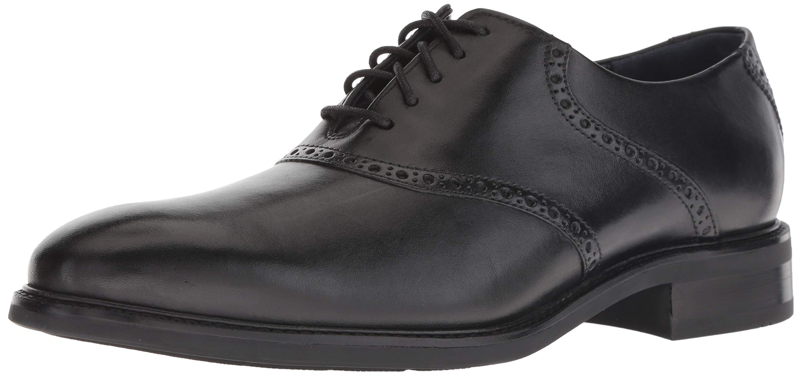 Cole Haan Men's Buckland Saddle OX Oxford, Black, 10.5 M US