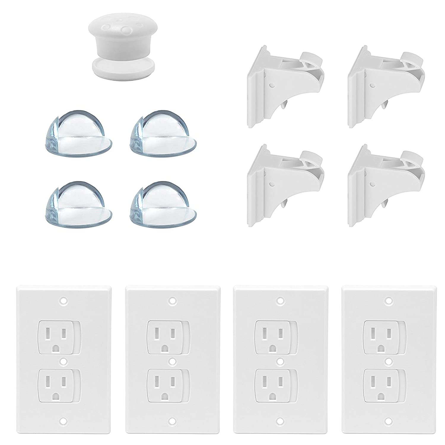 Amazon.com : Child Safety Kit - Outlet Covers, Corner Bumper ...