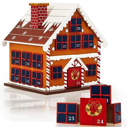 Advent Calendar Reusable Wooden Decor Refillable Diy Christmas