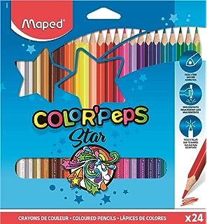 Maped - Estuche de 24 ceras duras ColorPeps: Amazon.es ...