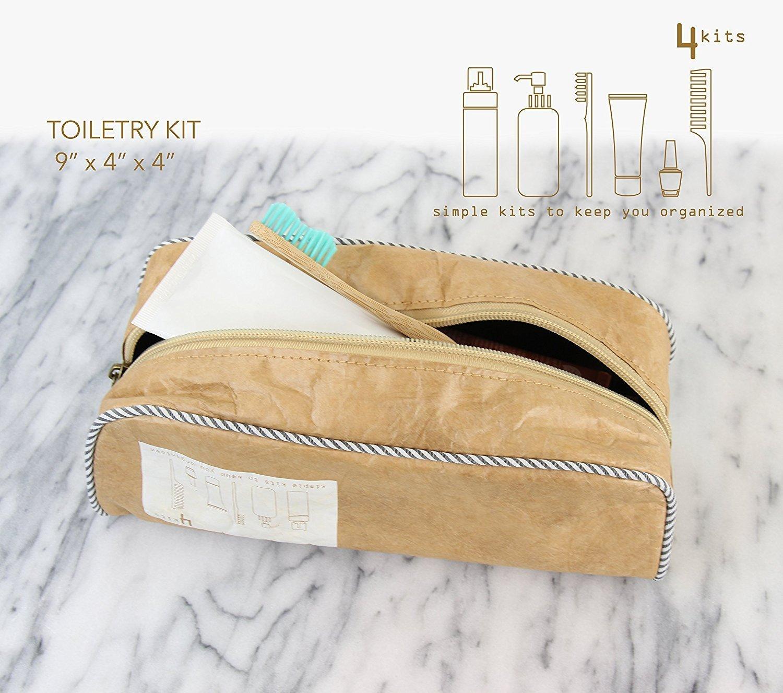 4kits Embalaje Elegante Cubos Para Viajes - Incluye Un Organizador De Viaje Grandes, Medianas Y Pequeñas + Kit De Aseo Para El Maquillaje Y Accesorios De ...