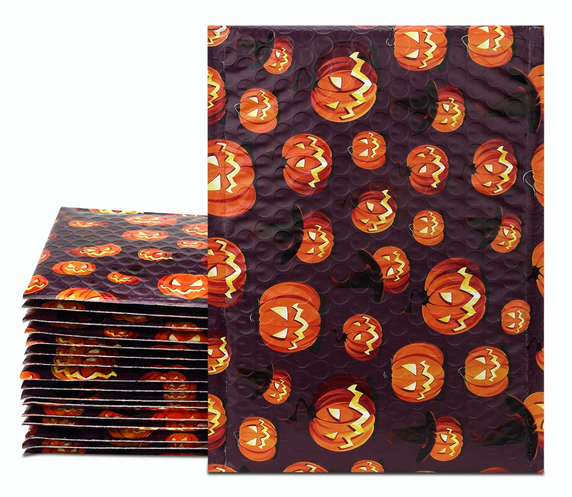 UCGOU 6x10 Bubble Mailers Padded Envelopes Halloween Designer Boutique Custom Bags CD/DVD Mailers Pack of 25
