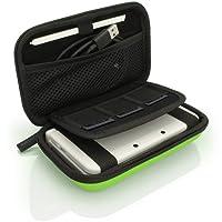 igadgitz Grün EVA Hart Tasche Schutzhülle fur Neu Nintendo 3DS Etui Case Cover mit Tragegurt (NICHT FÜR 3DS XL)