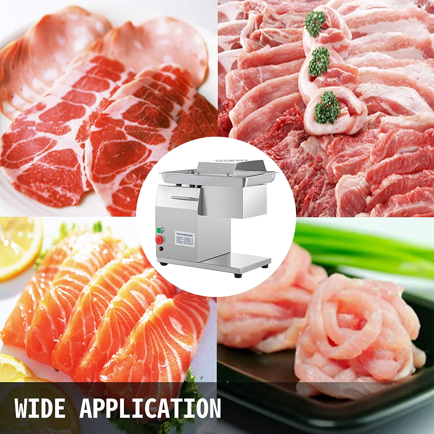BestEquip One Set Blade 7mm for Desktop Meat Slicer 1100 LB//H 500W Stainless Steel Meat Cutting Machine 7mm Blade Perfect for Kitchen Restaurant