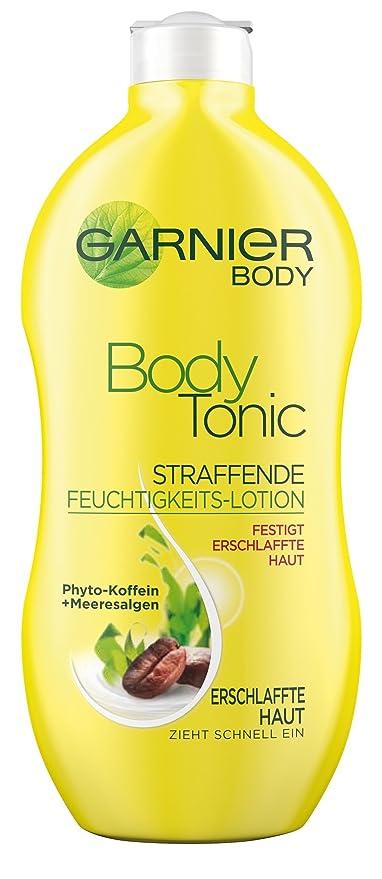 Garnier Body Tonic Reafirmante algas cafeína loción hidratante, 400 ml, 1-pack