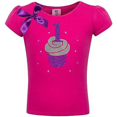 d3aaf4b9d215c Bubblegum Divas Baby Girls' 1st Birthday Pink Cupcake Shirt 12 Months