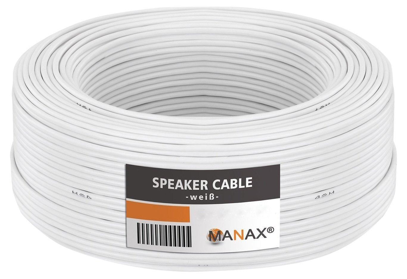 Câble de haut-parleur MANAX® 2 x 0, 75 mm² rouge / noir 100, 0 m