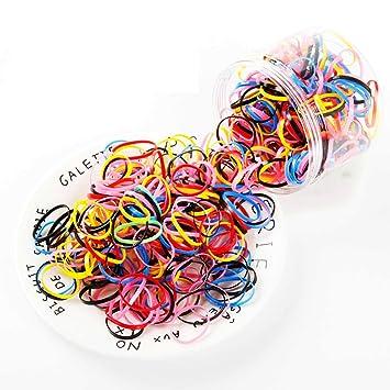 1000Pcs Girls Hair Mini Elastic Rubber Bands Disposable Braiding Clear Hair Band
