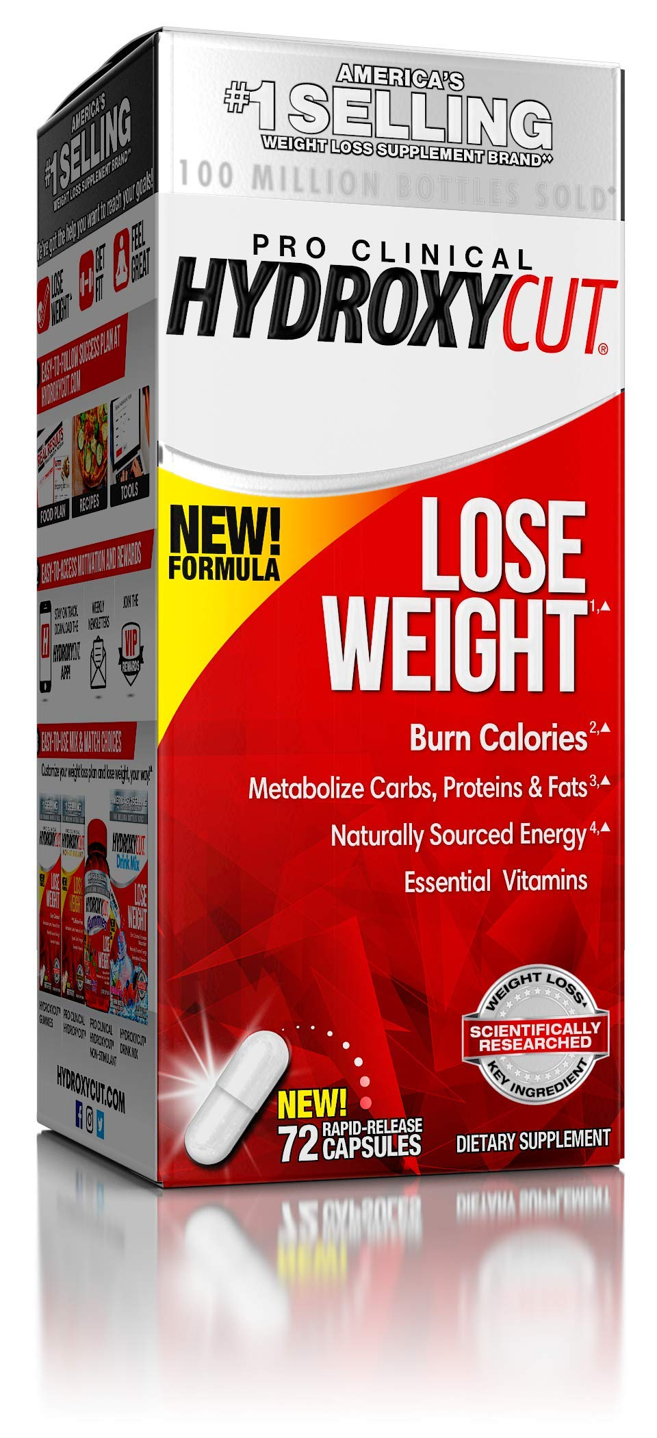 Hydroxycut Pro Clinical Weight Loss Supplements with Apple Cider Vinegar and Vitamins, Burn Calories & Get Naturally Sourced Energy, 72 Pills by Hydroxycut
