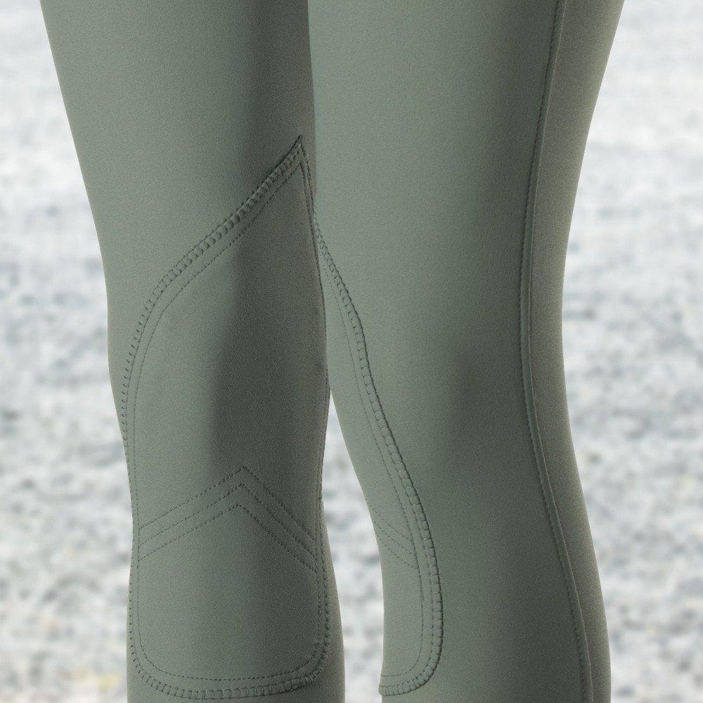 B Vertigo Claire Womens Medium Waist Knee Patch Breeches Slate Silver Gray