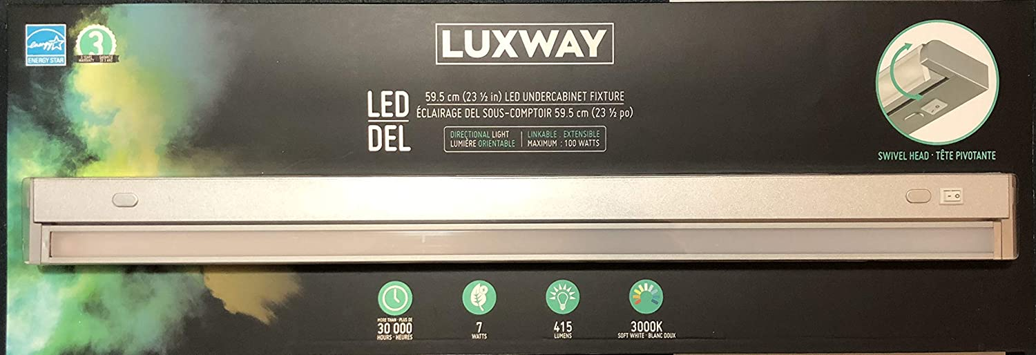 size 40 89b00 3471d Luxway LED 59.5 cm(23,1/2in) LED Undercabinet Light Fixture ...