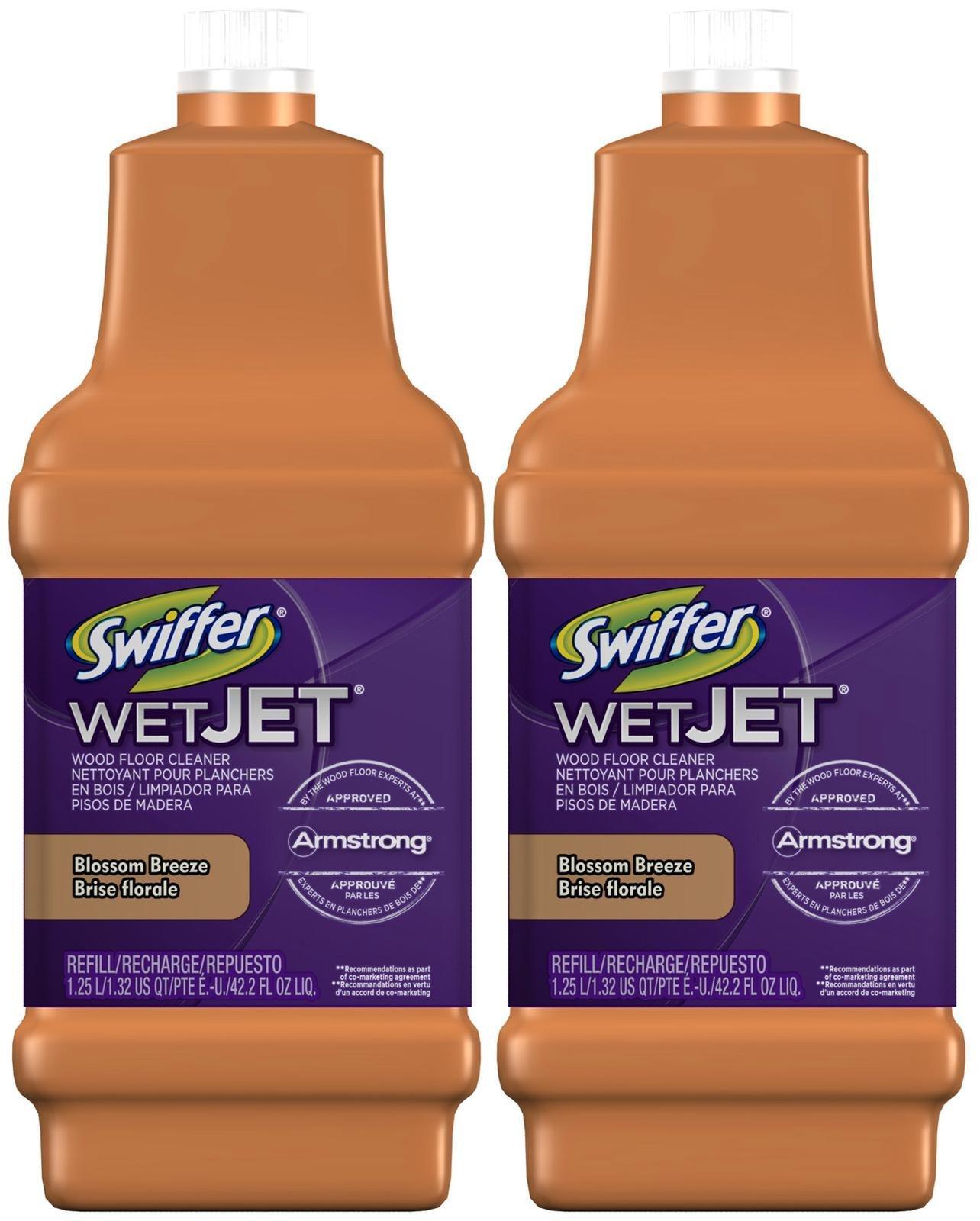 Swiffer wetjet wood floor cleaner - Swiffer Wood Floor Solution Blossom Breeze 42 2 Ounce 2 Pk