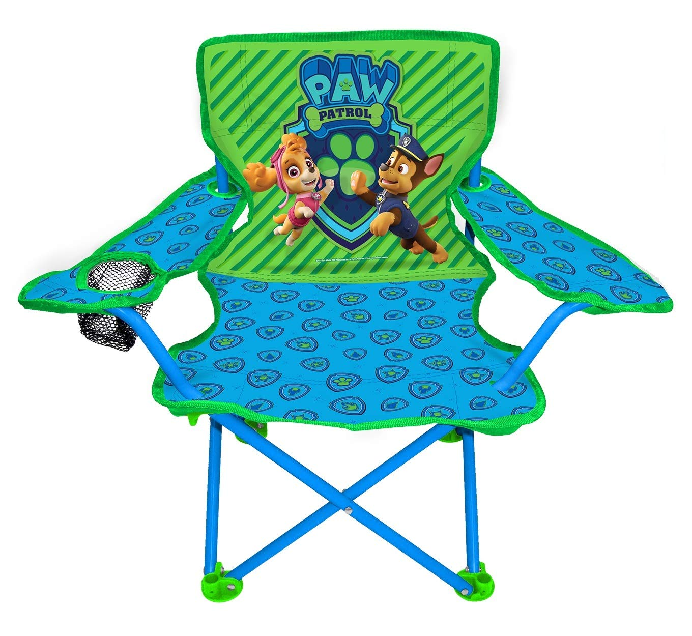 Jakks Pacific Paw Patrol Neutral Camp Chair for Kids, Portable Camping Fold N Go Chair with Carry Bag by Jakks Pacific