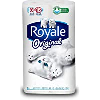 Royale Original Bathroom Tissue, Double Rolls, 8 Count
