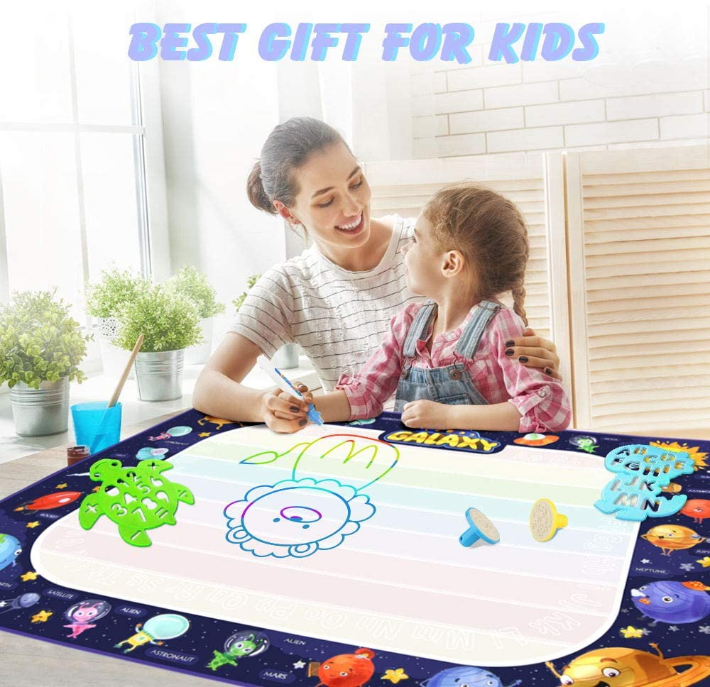 Extra Large Water Drawing Mat Toddler Toys Gifts Painting Writing Color Mat Kids Toys for Boys Girls Age of 3 4 5 6 7 8 Year Old 40 x 28 Inches Betheaces Aqua Magic Doodle Mat