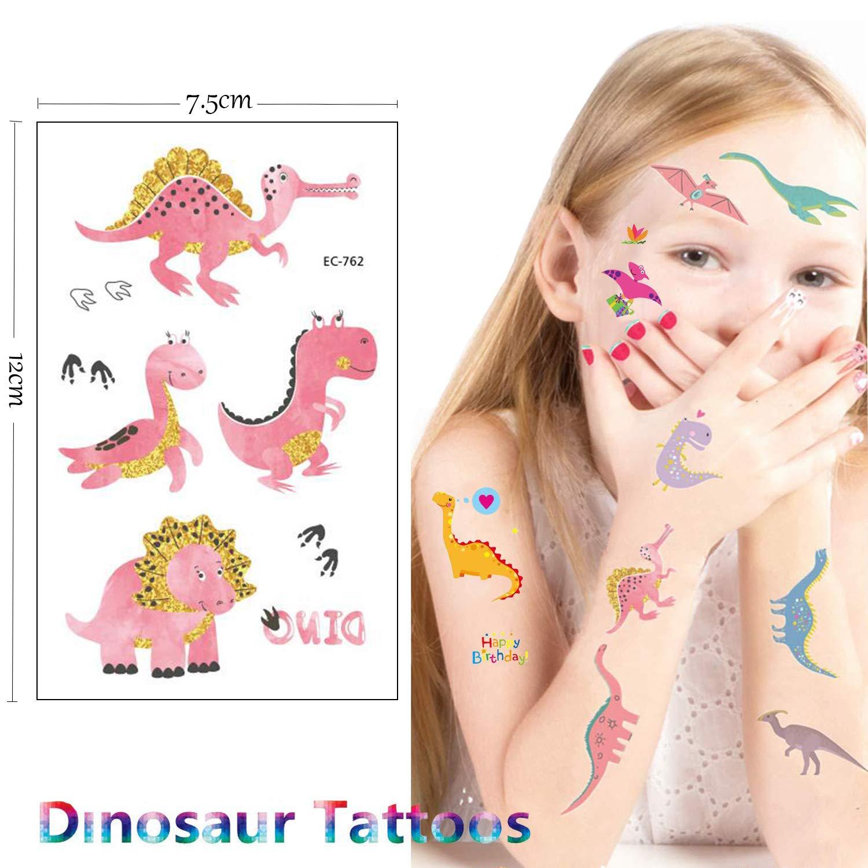 SZSMART Tatuajes Dinosaurios Pegatinas Dinosaurios Tatuajes ...