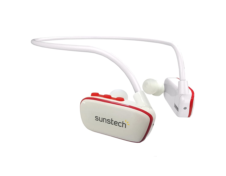 Sunstech ARGOS4GBWTRD - Reproductor MP3 deportivo de 4 GB y resistente al agua