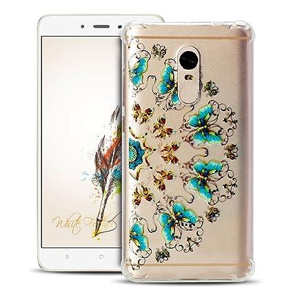 Anfire Funda Xiaomi Redmi Note 4 Carcasa Suave y Transparente Case Flexible de Silicona Cover [Esquinas Reforzadas] Protección Gota y Ultra Ligera Gel ...