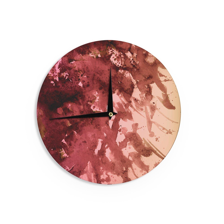 Kess InHouse EBI Emporium Splash Out Red Coral Maroon Orange Wall Clock 12